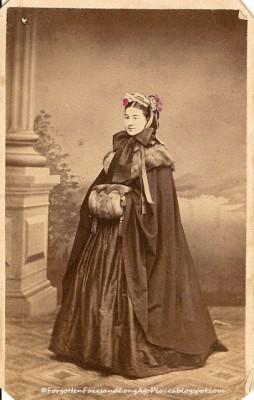 1860 Penn Woman with Fur collar and muff