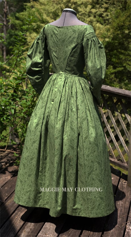 1830s era transitional gown – Maggie May Clothing- Fine