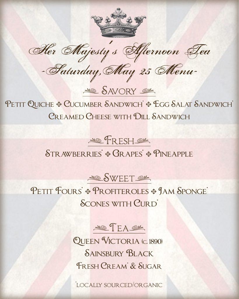 Queen Victoria's afternoon tea