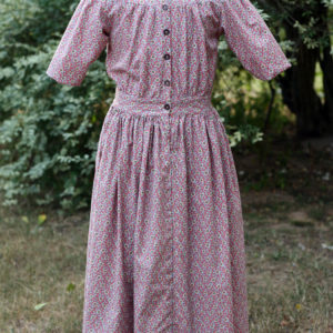 Girl's traditional yoke front dress