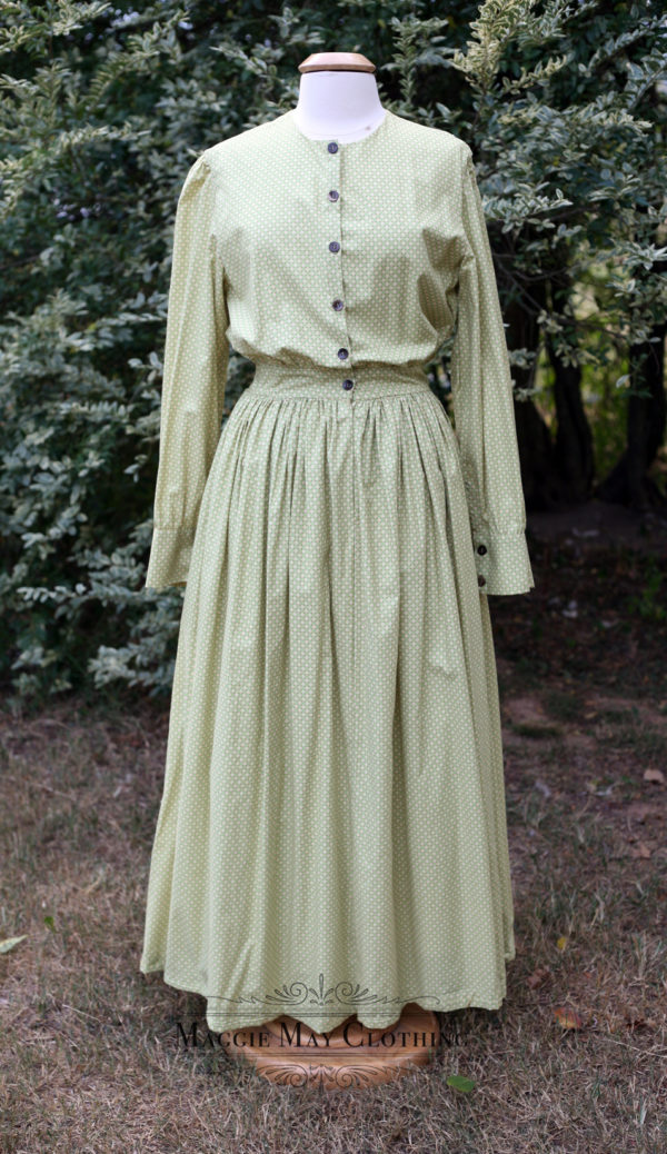 Woman's long skirt cotton dress