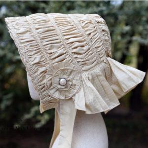 silk drawn bonnet