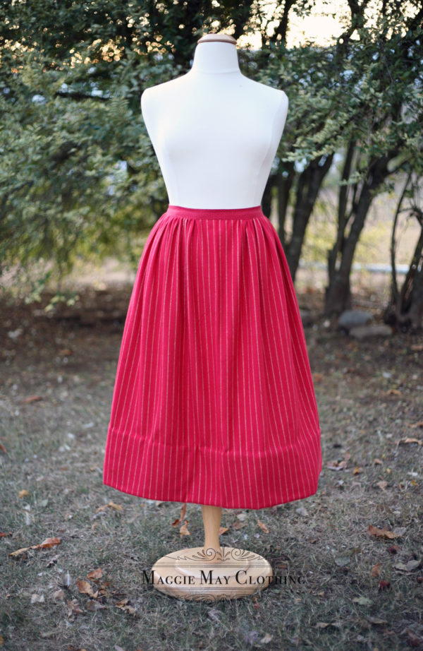 red flannel petticoat