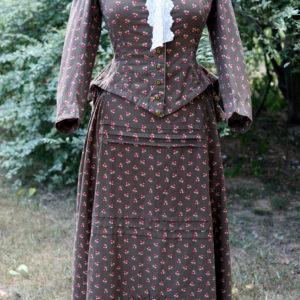 1880s bustle dress