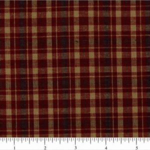 homespun plaid cotton fabric