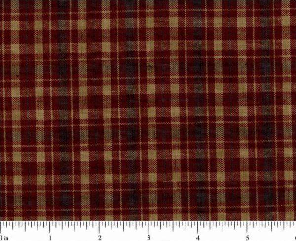 homespun plaid cotton fabric