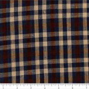 Plaid homespun fabric