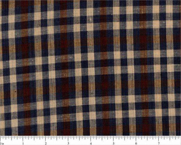 Plaid homespun fabric