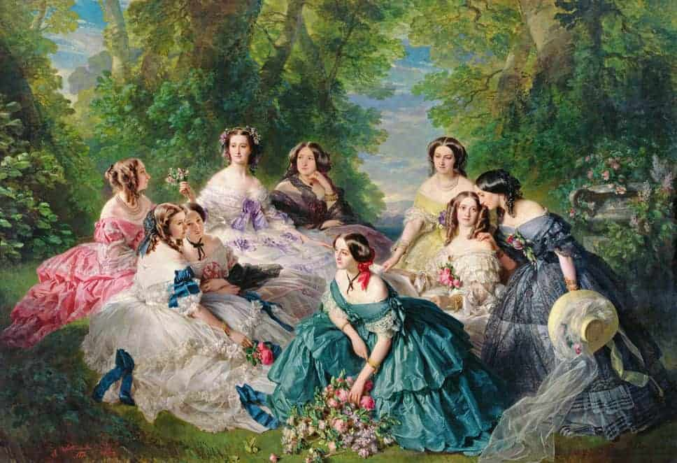 Empress Eugenie and Her ladies in waiting by Winterhalter