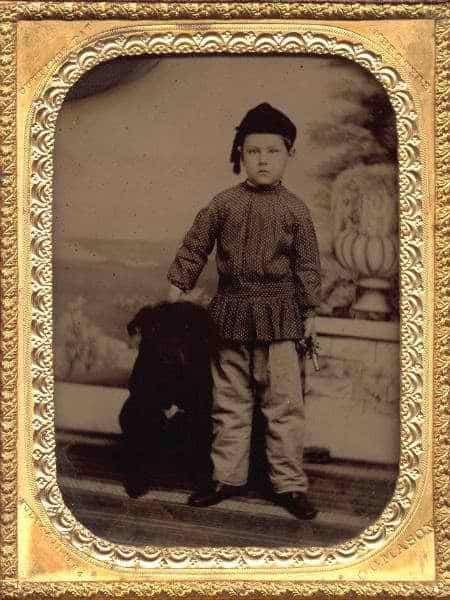 Boy in tunic