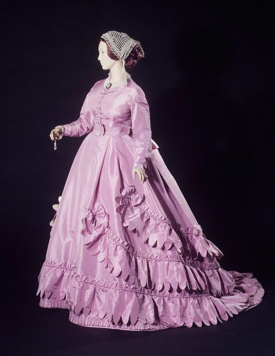 House of Worth 1862 mauve dress