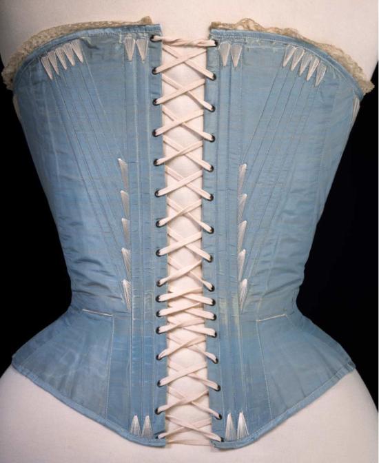 1860s corset back