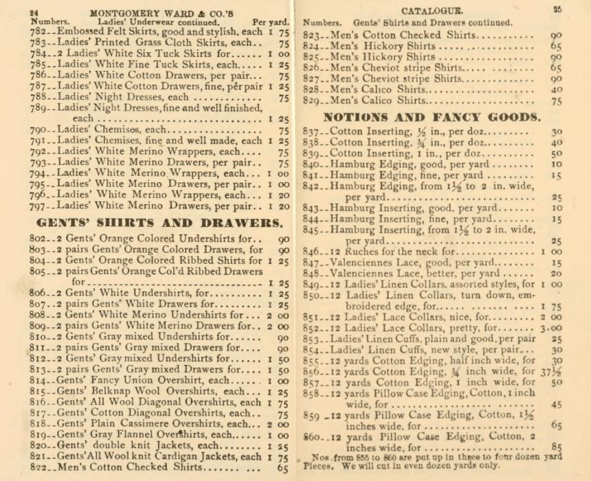 1875 Montgomery Ward mail order catalog