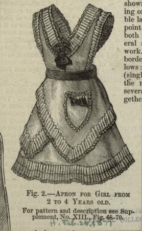 Girl's bustle apron
