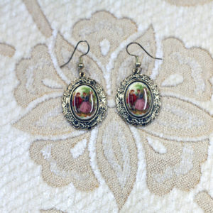 Baroque scene earrings
