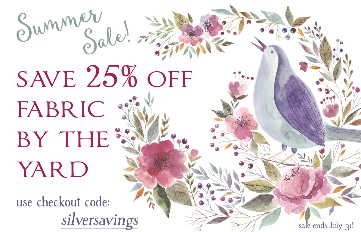 July Fabric Sale